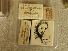 STAMPIN UP 2001 Mother and Child 4 RUBBER STAMPS