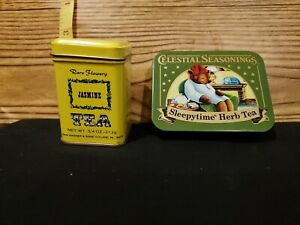 2 Mini Tea Tins Celestial Seasonings  Sleepytime And Jasmine