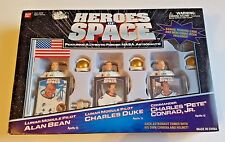 HEROS OF SPACE NASA ASTRONAUT Apollo CIB Figurine SET Of 3 IN BOX Bandai 1999