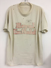 Destroyed Vintage Rare 80's - ROYAL ENFIELD Motorcycles - VINTAGE WHITE tee XL