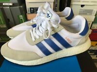 Mens Size 9.5 Adidas I-5923 White/Blue D97740