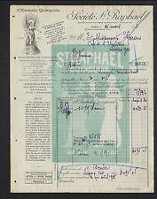 PARIS (III°) DISTILLERIE / LIQUEUR ST RAPHAEL QUINQUINA en 1928