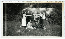 photo anonyme snapshot surimpression spirit party - heureux amis 1940 strange