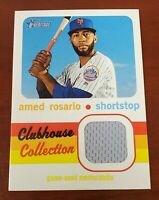 2020 Topps Heritage Clubhouse Collection Jersey Relic Card Mets Amed Rosario
