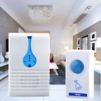 LED Wireless Chime Door Bell Doorbell & Wireles Remote control 32 Tune Songs GA