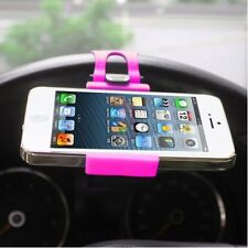 Universal Pink CAR MOUNT HOLSTER CLIP On Steering Wheel Cell Phone GPS Holder