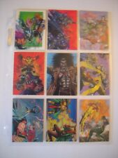 WILDSTORM  SET 2    TRADING CARDS  95   SET DE 9  BONUS  ANIMEES MOTION   RARES