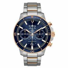 Bulova 98B301 Marine Star Blue 45mm Stainless Steel Case Men's Watch - Blue/Silver