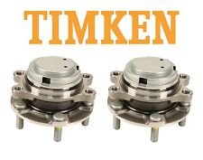 Pair Set of 2 Front Wheel Bearing and Hubs Assies Timken For Infiniti Nissan RWD