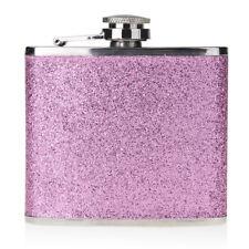Purple 5OZ Stainless-Steel PU Alcohol Drink Liquor Wine Leather Bottle