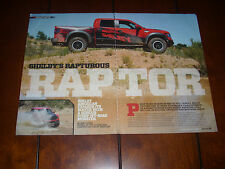 2013 SHELBY FORD RAPTOR 575 H.P. OFF ROAD MONSTER - ORIGINAL ARTICLE