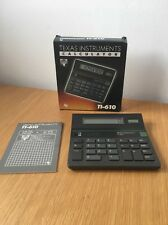 Vintage Texas Instruments TI-610 Solar & Battery Calculator In Original Box