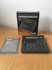 VINTAGE TEXAS INSTRUMENTS TI-610 Solare & Batteria Calcolatrice nella scatola originale