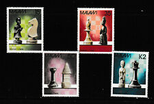 MALAWI 1988 SET, CHESS PIECES.   M.N.H.