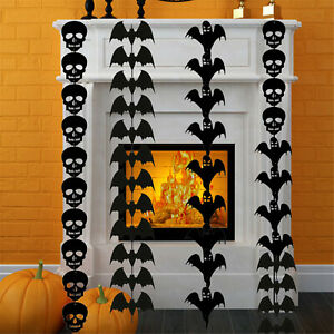 5 Meter Halloween Bat Skull Ghost Garland Banner Bunting House Party Decoration
