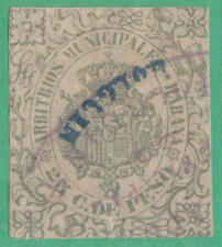 Spain Caribbean Island Havana Municipal Revenue Forbin #34 used 25c Emerald 1890