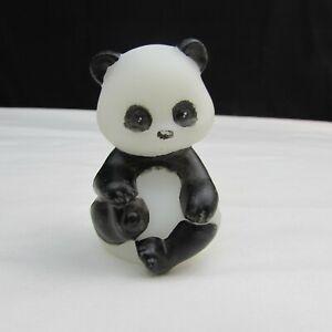 Fenton Opal Satin Panda FFOGKC Hand Painted Miniature Sitting Bear LE 2011 W419