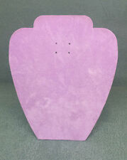Set of 10 Jewellery Display Card Busts [A] Lilac Suede