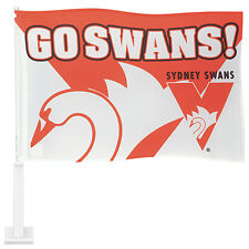 AFL SYDNEY SWANS CAR FLAG - Footy Fans Gift