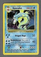 GYARADOS Holo 6/102 Base Set Pokemon Card