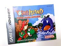 Mario Advance 3 Yoshi's Island Gameboy Advance GBA Instruction Manual Booklet VG