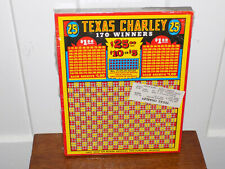 Texas Charley 25 Cent Punch Board still sealed in cellophane