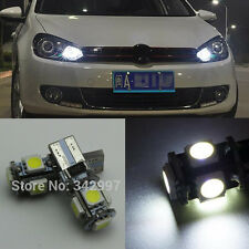 2x White No Error LED Parking City Light bulb For VW Golf MK6 & GTI Golf6 09-14