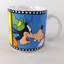 Disney Goofy Coffee Cup Mug Film Strip Comics Cartoon Japan Red Yellow Blue