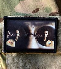 Morpheus Red Pill  Matrix Movie Morale Patch Tactical Military Army Badge Hook