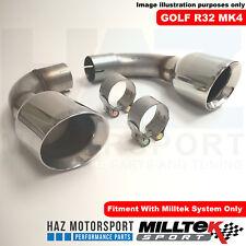Milltek Exhaust VW Golf Mk4 R32 V6 Cat Back Polished GT100 Tail Pipe Tips Only