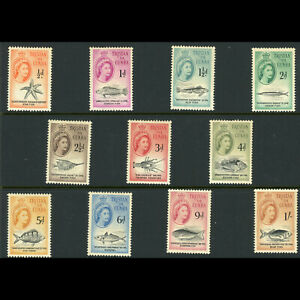 TRISTAN DA CUNHA 1960 Short Set to 1s. Fish. SG 28-38 Lightly Hinged Mint(WB907)