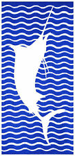 Dohler Marlin Beach Towel Blue 30x60