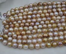 wholesale 1 strands 11-13mm near round natural color real pearl strings