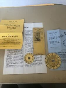 VINTAGE 2 CRAZY DAISY WINDERS For Finer Handweaving Complete With Instructions