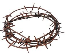JESUS CROWN OF THORNS KING BIBLICAL HAT HEADPIECE COSTUME RELIGIOUS CROWN RUBBER