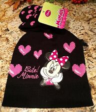 Disney Junior Minnie Mouse Winter Hat With Mittens NWT