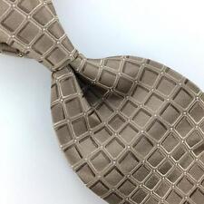 DKNY IVORY 3D Square GRID NARROW Woven Silk Men Necktie Tie I1-1126