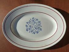 Antiguo plato decoración de flores de cerámica, art popular