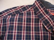 IZOD 100% Cotton Plaid Long Sleeve Big & Tall Button 466067 Shirt Sz 2XLT