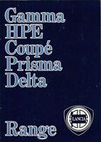 Lancia 1984-85 UK Market Sales Brochure Delta Prisma Coupe HPE Gamma