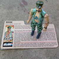 Vintage GI Joe figure 1983 Gung-Ho with Original File Card