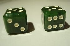 Gorgeous Canadian Top Grade  Jade  Dice,Great Luck Charm in Your Casino Venture