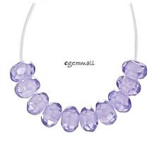 25 Cubic Zirconia Rondelle Beads 4mm Light Amethyst Purple #64227