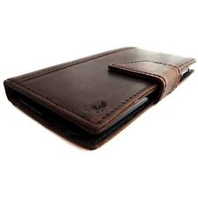 Leather vintage Case for Nokia Lumia 928 book Wallet Cover brown thin bracket uk