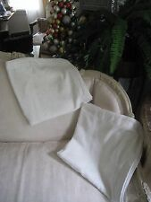 LOVELY LINEN OFF WHITE CHARTER CLUB TRAPUNTO (PAIR) EURO PILLOW SHAMS #61