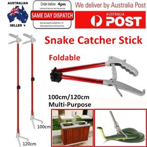Abu I Pet Foldable Red Hook Snake Tongs Grabber Handling Catcher Tool Wide Jaw