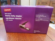 Staples High Capacity Heavy Duty Stapler 200 Sheet Capacity Black 34079
