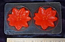 Vintage 1983 Avon Holiday Floating Candles Two Poinsettias Nib