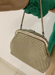 Vintage Oroton Handbag Glomesh Style Cream. Made In West Germany