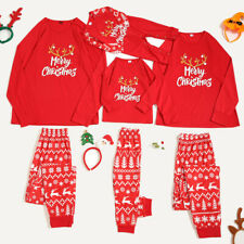 Women Men Merry Christmas Cartoon Pajamas Pants Family Matching Sleepwear Set